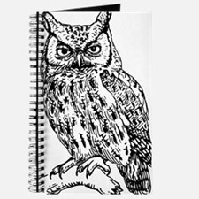 Black and White Owl Sketch Journal