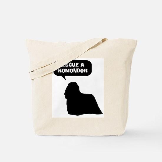 Rescue a Komondor Tote Bag