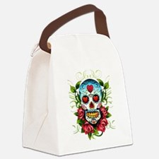 Day of the Dead Skull Canvas Lunch Bag