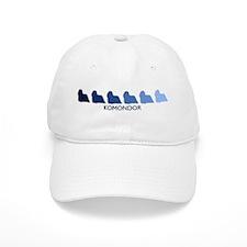 Komondor (blue color spectrum Baseball Cap