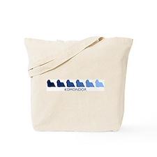 Komondor (blue color spectrum Tote Bag