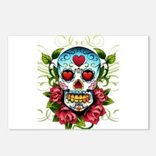 Day of the Dead Skull Postcards (Package of 8)