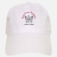 Brain Tumor Butterfly 6.1 Hat