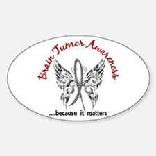 Brain Tumor Butterfly 6.1 Sticker (Oval)