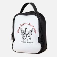 Brain Tumor Butterfly 6.1 Neoprene Lunch Bag