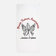Brain Tumor Butterfly 6.1 Beach Towel