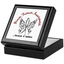Brain Tumor Butterfly 6.1 Keepsake Box