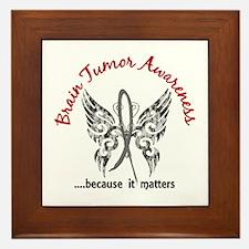 Brain Tumor Butterfly 6.1 Framed Tile