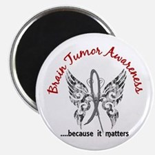 "Brain Tumor Butterfly 6.1 2.25"" Magnet (100 pack)"