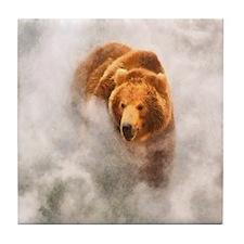 Bear in Mist Tile Coaster