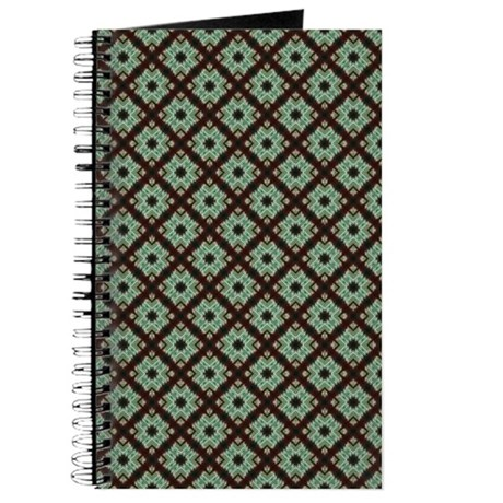 Pretty Green Brown Pattern Journal