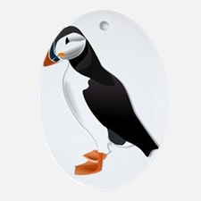 Little Puffin Ornament (Oval)