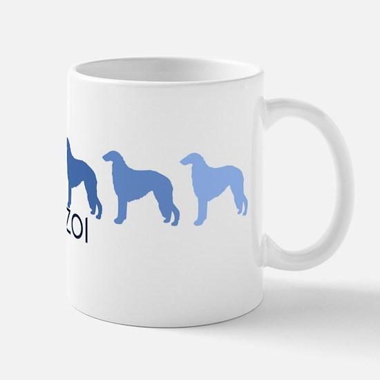 Borzoi (blue color spectrum) Mug