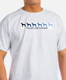 Italian Greyhound (blue color T-Shirt