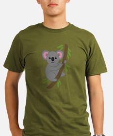 Cartoon Koala in a Tree T-Shirt