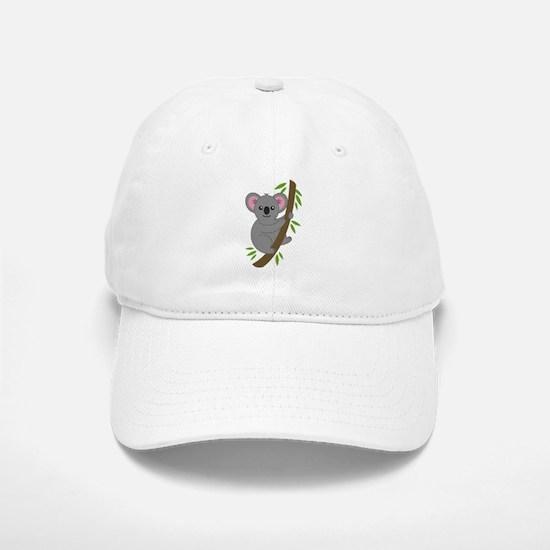 Cartoon Koala in a Tree Baseball Baseball Cap