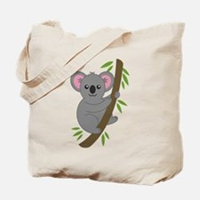 Cartoon Koala in a Tree Tote Bag