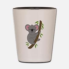 Cartoon Koala in a Tree Shot Glass