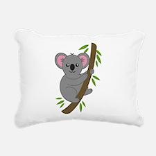 Cartoon Koala in a Tree Rectangular Canvas Pillow