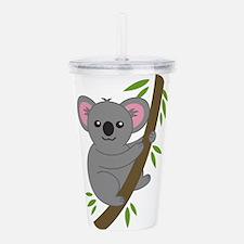 Cartoon Koala in a Tre Acrylic Double-wall Tumbler