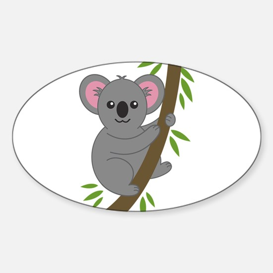 Cartoon Koala in a Tree Decal