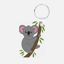 Cartoon Koala in a Tree Keychains