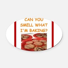 oatmeal cookies Oval Car Magnet