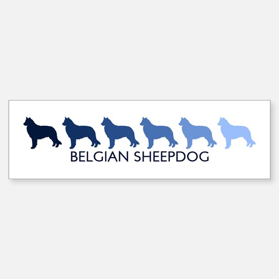 Belgian Sheepdog (blue color Bumper Car Car Sticker