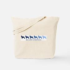 Belgian Sheepdog (blue color  Tote Bag