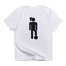 Female Soccer Player Infant T-Shirt