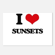 I love Sunsets Postcards (Package of 8)
