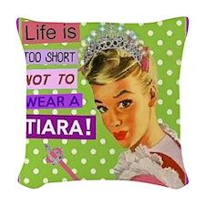 Tiara Woven Throw Pillow