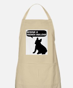 Rescue a French Bulldog BBQ Apron