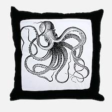 Funny Octopus Throw Pillow