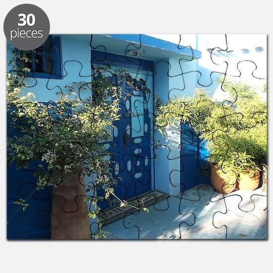 Ornate doors in Kasbah Des Oudais, Rabat, M Puzzle