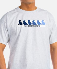 French Bulldog (blue color sp T-Shirt
