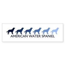 American Water Spaniel (blue Bumper Car Sticker