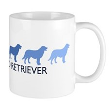 Flat Coated Retriever (blue c Small Mug