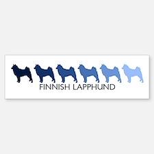 Finnish Lapphund (blue color Bumper Bumper Bumper Sticker