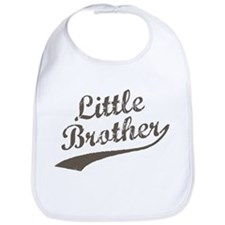 Little Brother (Brown Text) Bib