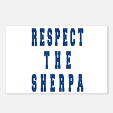 Respect the Sherpa Blue Postcards (Package of 8)