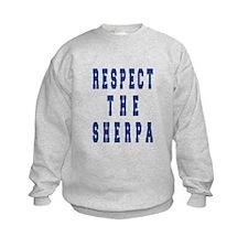 Respect the Sherpa Blue Sweatshirt