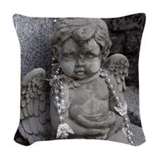 New Orleans Angel  Woven Throw Pillow