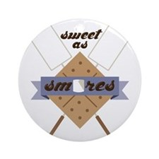 Sweet as SMores Ornament (Round)