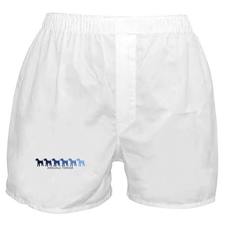 Airedale Terrier (blue color Boxer Shorts