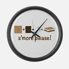 SMore Please Large Wall Clock