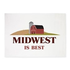 Midwest is Best 5'x7'Area Rug