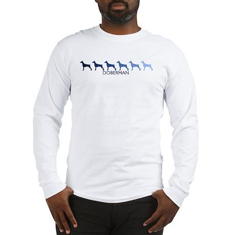 Doberman (blue color spectrum Long Sleeve T-Shirt