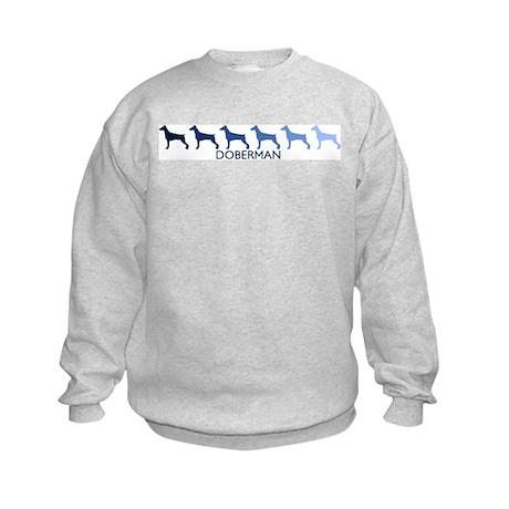 Doberman (blue color spectrum Kids Sweatshirt