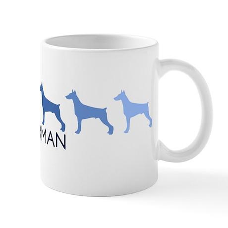 Doberman (blue color spectrum Mug